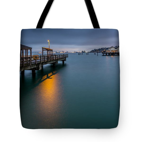 Less Davis Pier Commencement Bay Tote Bag