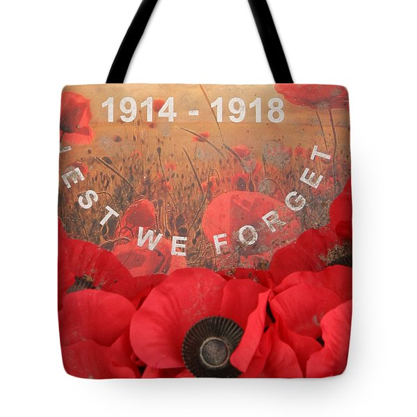 Lest We Forget - 1914-1918 Tote Bag