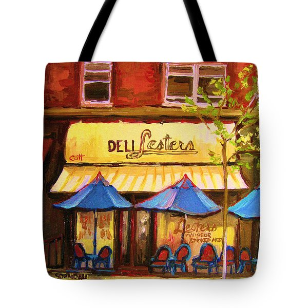 Lesters Cafe Tote Bag