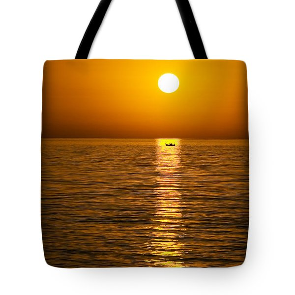 Lesvos Sunset Tote Bag by Meirion Matthias