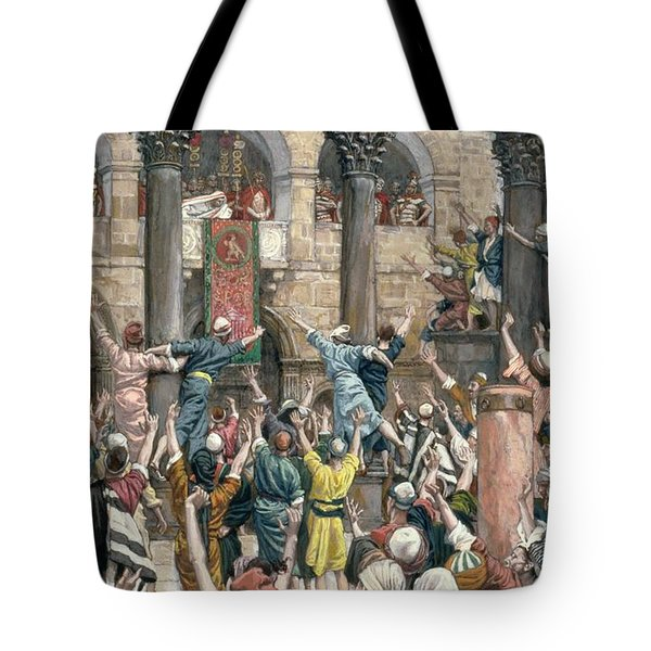 Let Him Be Crucified Tote Bag by Tissot