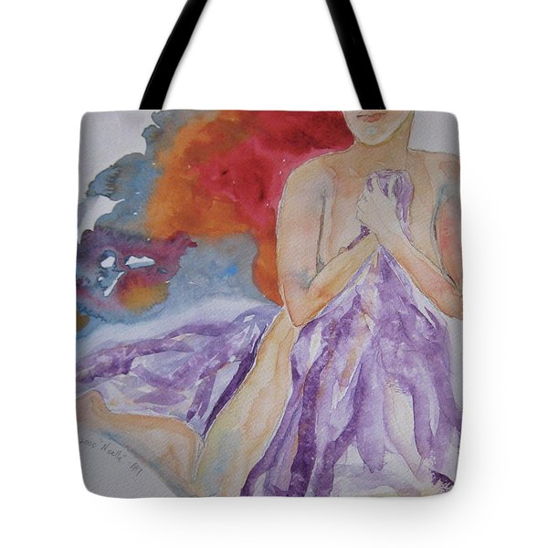 Tote Bag featuring the painting Let It Burn by Beverley Harper Tinsley