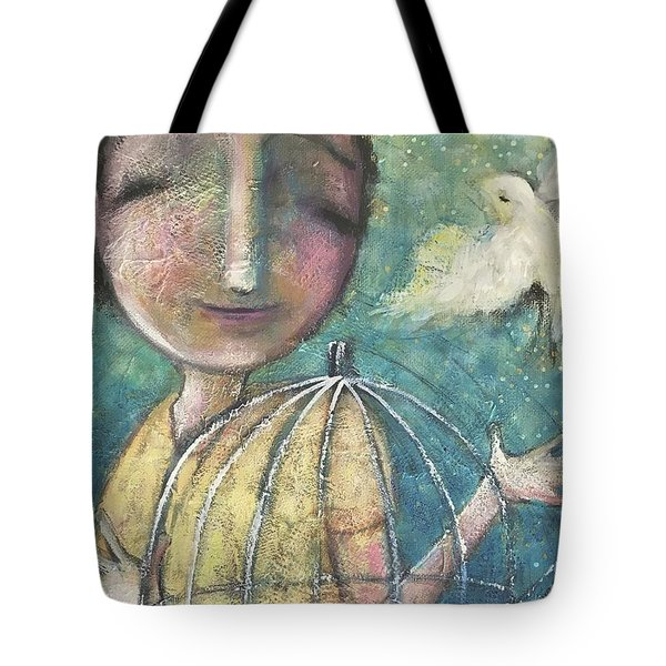 Tote Bag featuring the painting Let It Go by Eleatta Diver