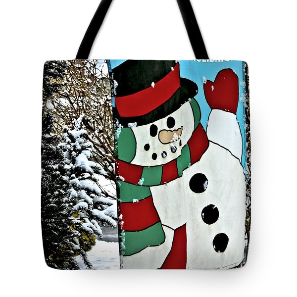 Let It Snow - Happy Holidays Tote Bag by Carol F Austin