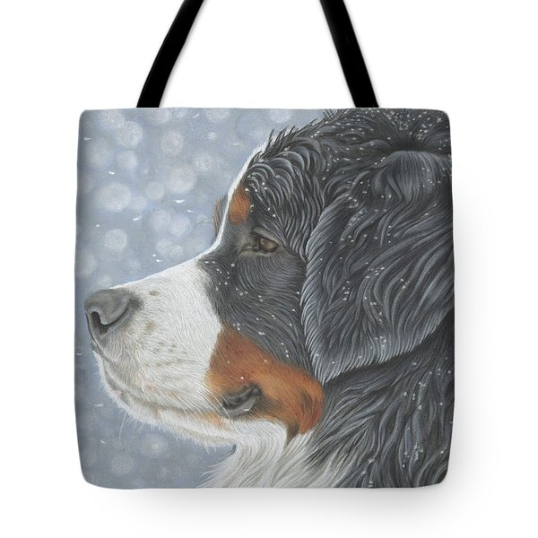 Tote Bag featuring the painting Let It Snow by Donna Mulley