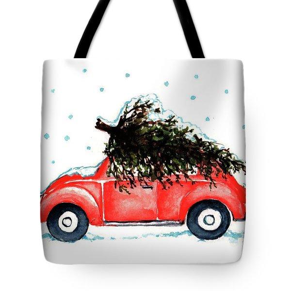 Tote Bag featuring the painting Let It Snow by Heidi Kriel