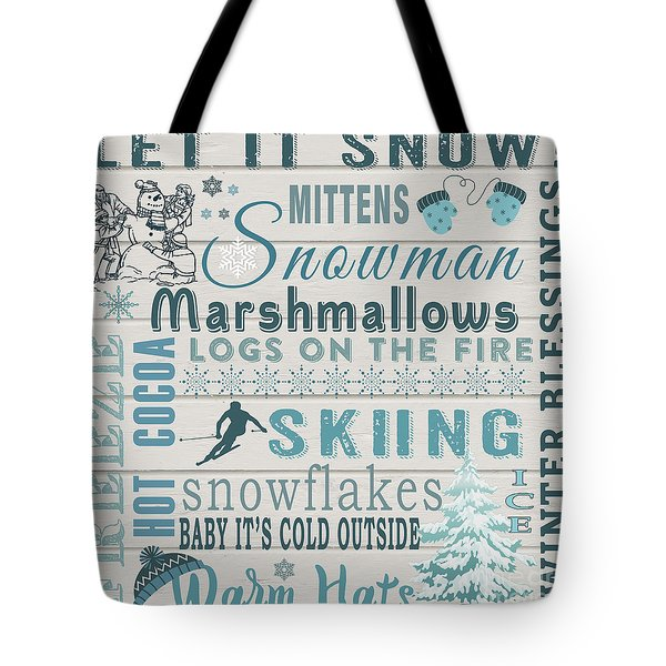 Tote Bag featuring the digital art Let It Snow by Jean Plout