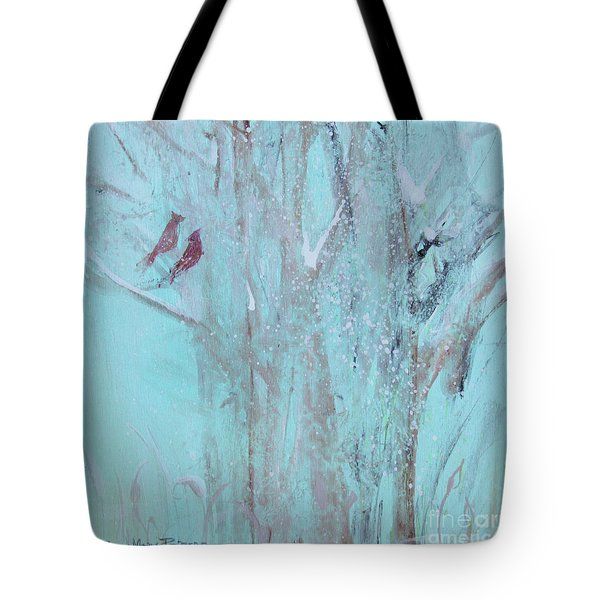 Tote Bag featuring the painting Let It Snow by Robin Maria Pedrero