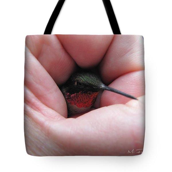 Comforting Hand Tote Bag by Maciek Froncisz