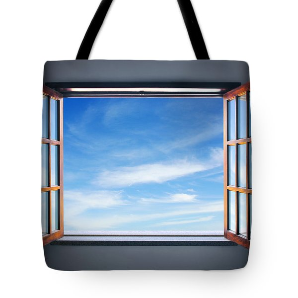 Let The Blue Sky In Tote Bag by Carlos Caetano