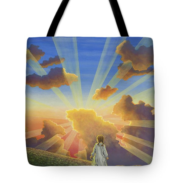 Let The Day Begin Tote Bag