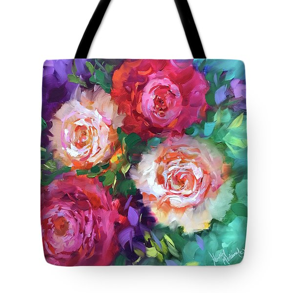 Let The Joy In Roses And Peonies Tote Bag