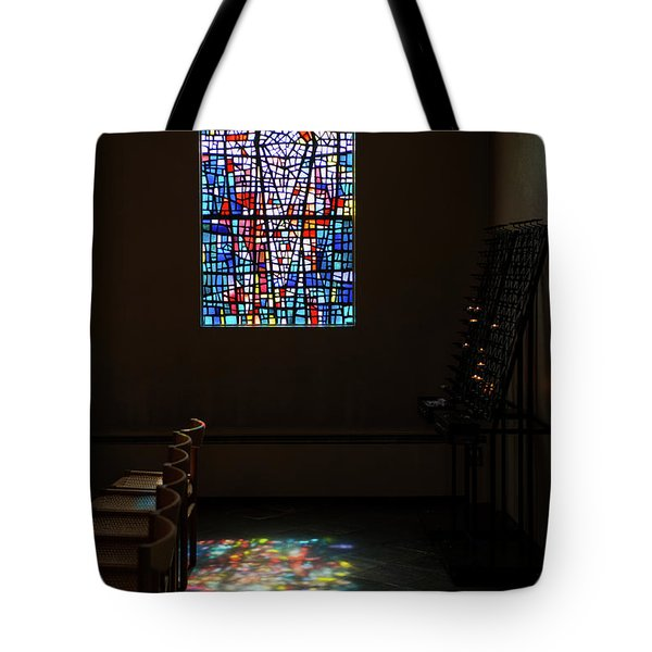 Tote Bag featuring the photograph Let There Be Coloured Light... by Nina Stavlund