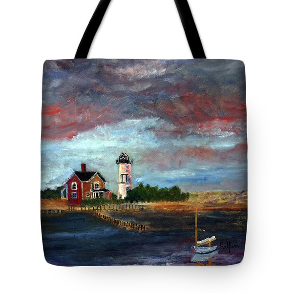 Tote Bag featuring the painting Let There Be Light by Michael Helfen