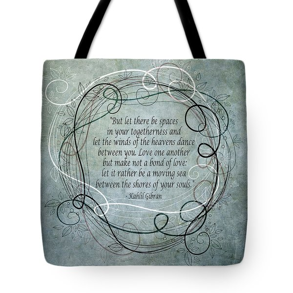 Let There Be Spaces Tote Bag