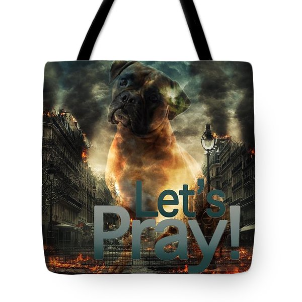Let Us Pray-2 Tote Bag