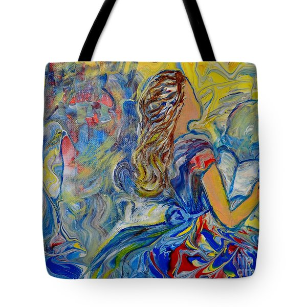 Tote Bag featuring the painting Let Your Kingdom Come by Deborah Nell
