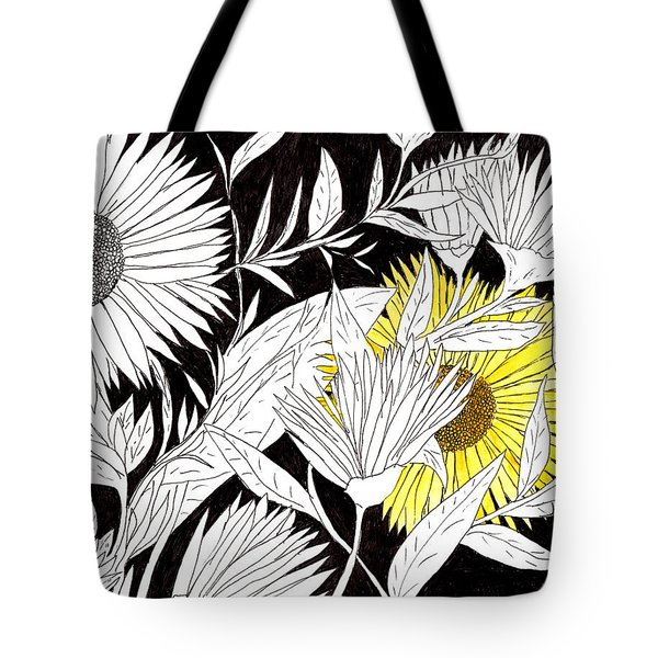Tote Bag featuring the drawing Let Your Light Shine by Lou Belcher