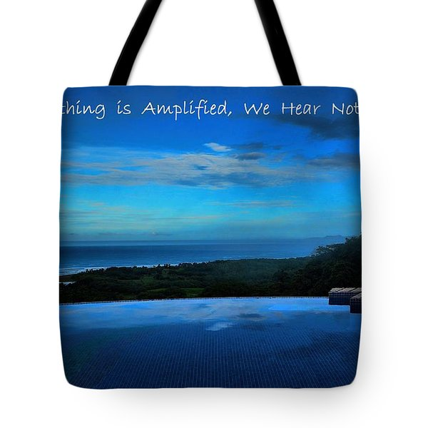 Let Yourself Hear The Magic Tote Bag by Pamela Blizzard