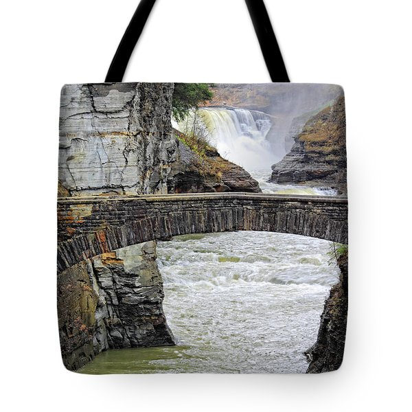 Letchworth Lower Falls Tote Bag by Charline Xia