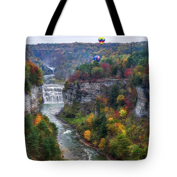 Letchworth Middle Falls Tote Bag by Mark Papke