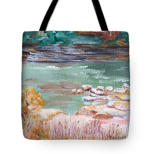 Letchworth State Park Tote Bag by Ellen Canfield