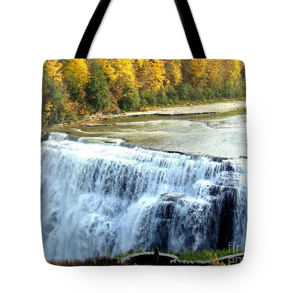 Letchworth State Park Middle Falls Autumn Tote Bag