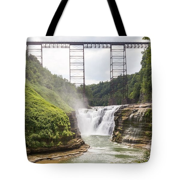 Letchworth Upper Falls Tote Bag