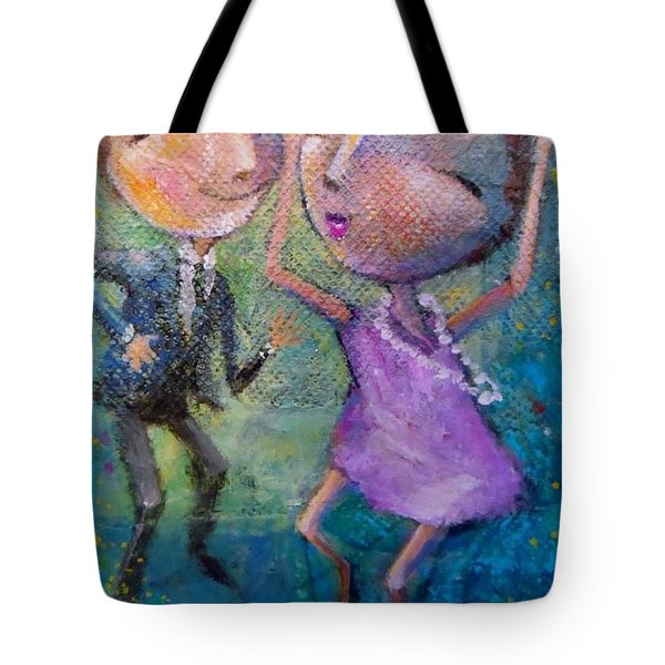 Tote Bag featuring the painting Let's Dance by Eleatta Diver
