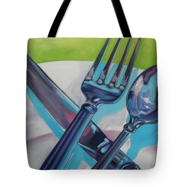 Let's Eat Tote Bag by Donna Tuten