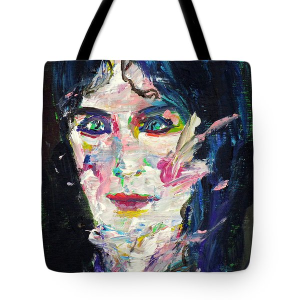 Tote Bag featuring the painting Let's Feel Alive by Fabrizio Cassetta