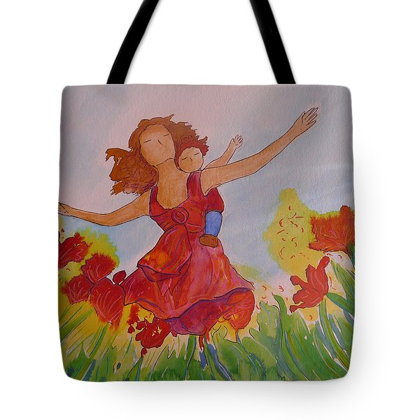 Tote Bag featuring the painting Let's Fly  by Gioia Albano