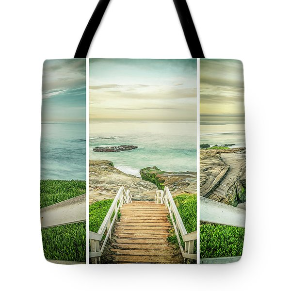Let's Go Down To Windansea Tote Bag by Joseph S Giacalone