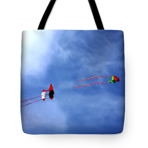 Let's Go Fly 2 Kites Tote Bag