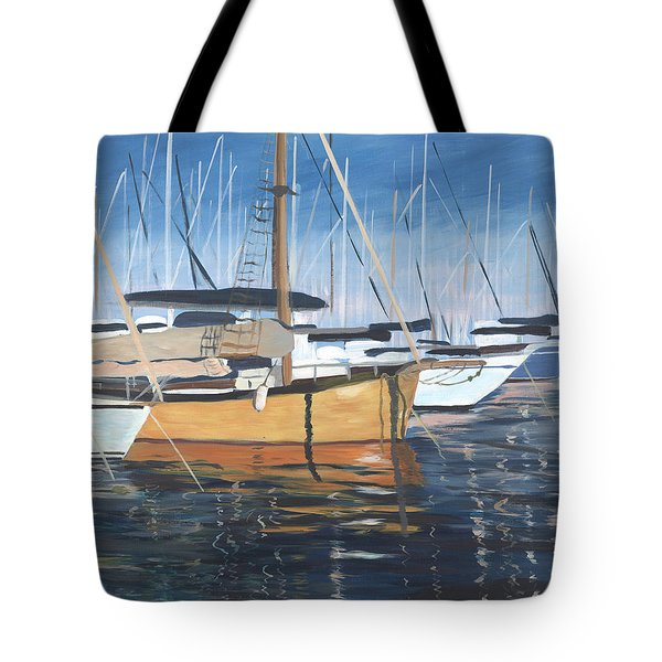 Tote Bag featuring the painting Let's Go by Jane Croteau