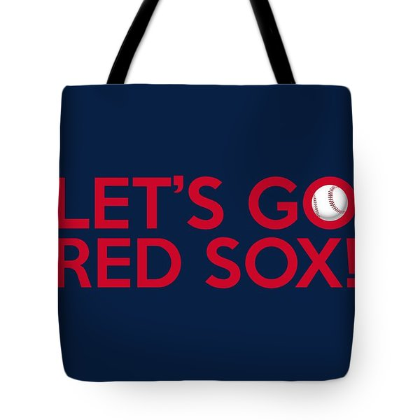 Let's Go Red Sox Tote Bag