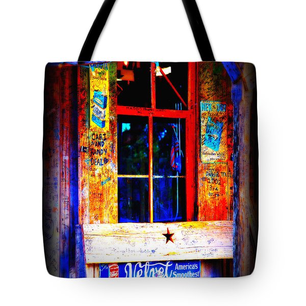Let's Go To Luckenbach Texas Tote Bag by Susanne Van Hulst