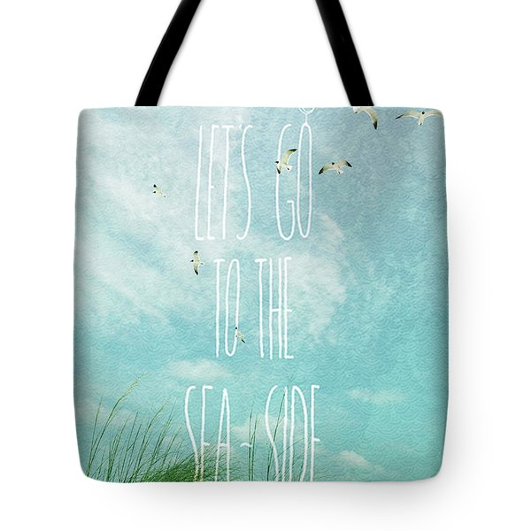 Tote Bag featuring the photograph Let's Go To The Sea-side by Jan Amiss Photography