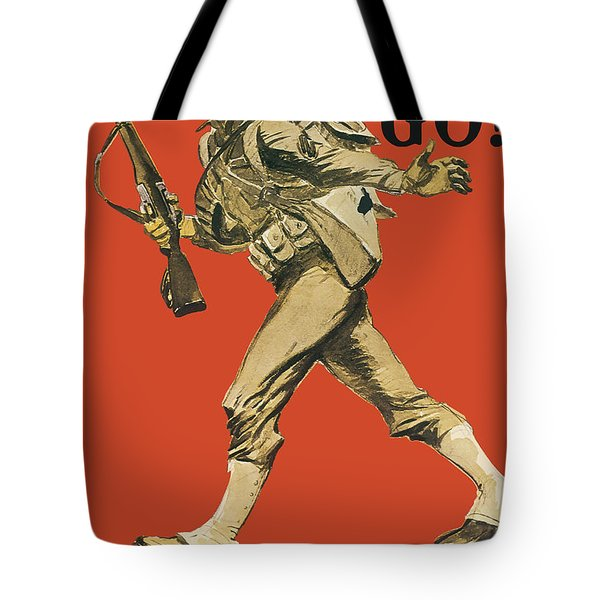 Let's Go - Vintage Marine Recruiting Tote Bag