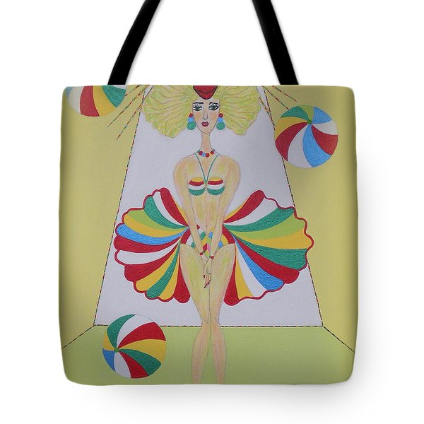 Tote Bag featuring the painting Let's Play Balls by Marie Schwarzer