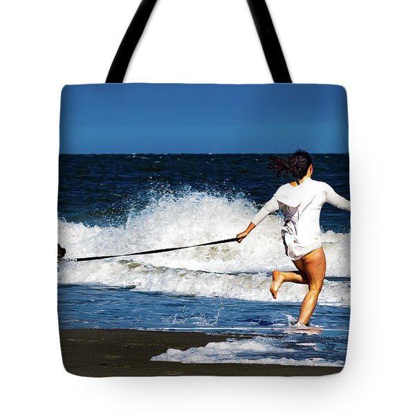 Let's Play In The Water Tote Bag