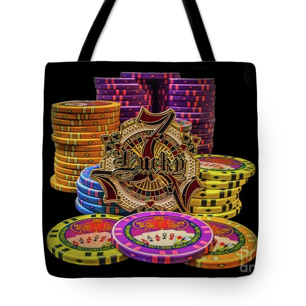 Lets Play Poker Tote Bag