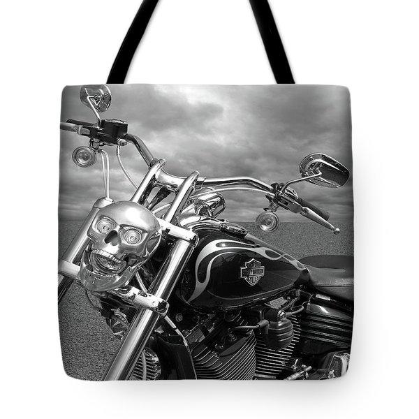 Let's Ride - Harley Davidson Motorcycle Tote Bag by Gill Billington