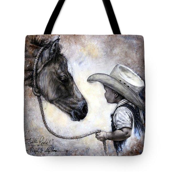 Lets Ride Tote Bag by Virgil Stephens