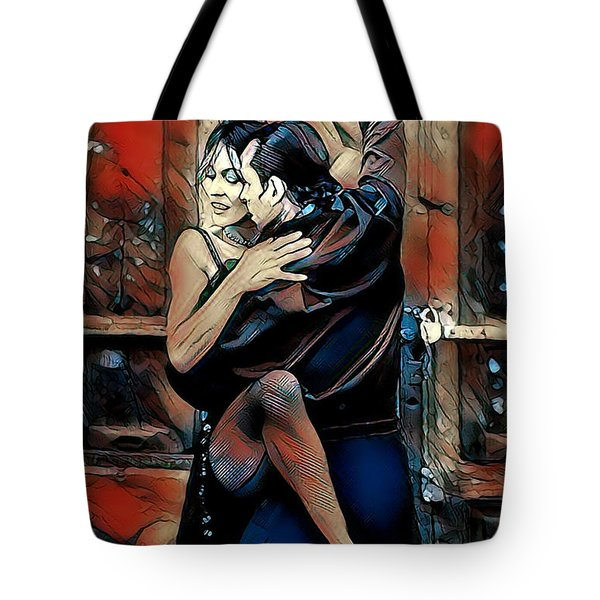 Tote Bag featuring the digital art Let's Tango by Pennie McCracken