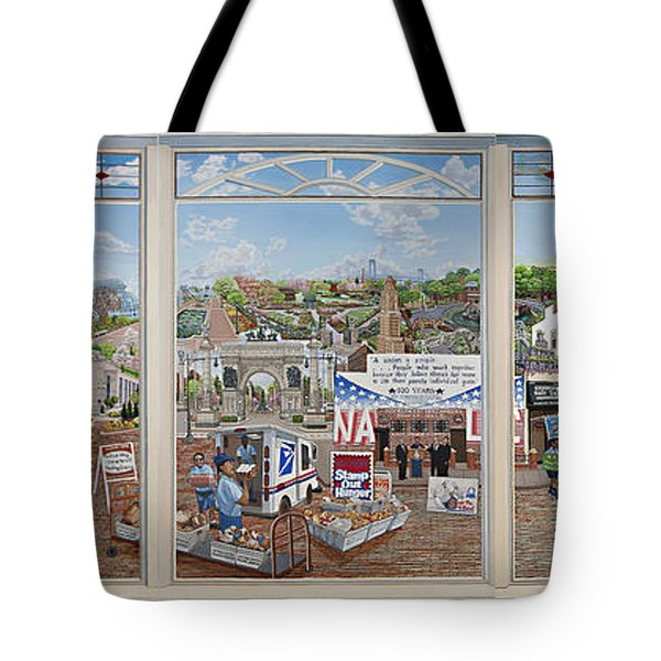 Letter Carriers Picture Window Of Brooklyn Tote Bag