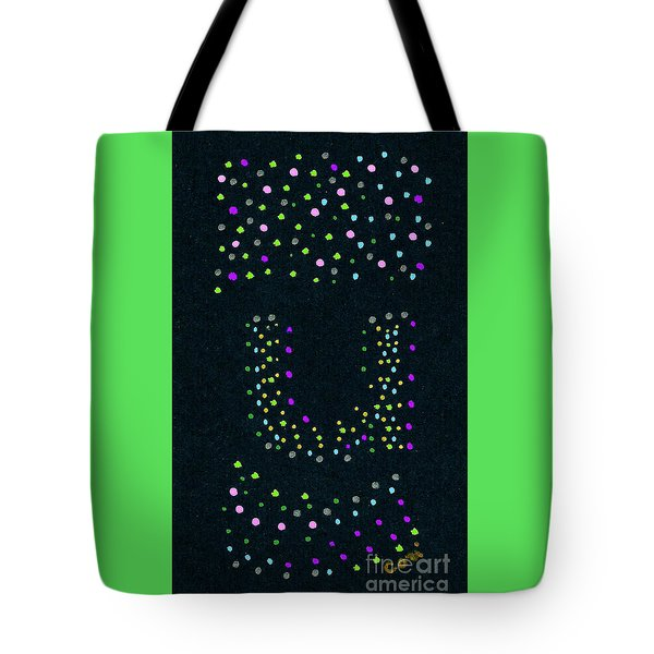 Tote Bag featuring the painting Letter U 1 by Corinne Carroll