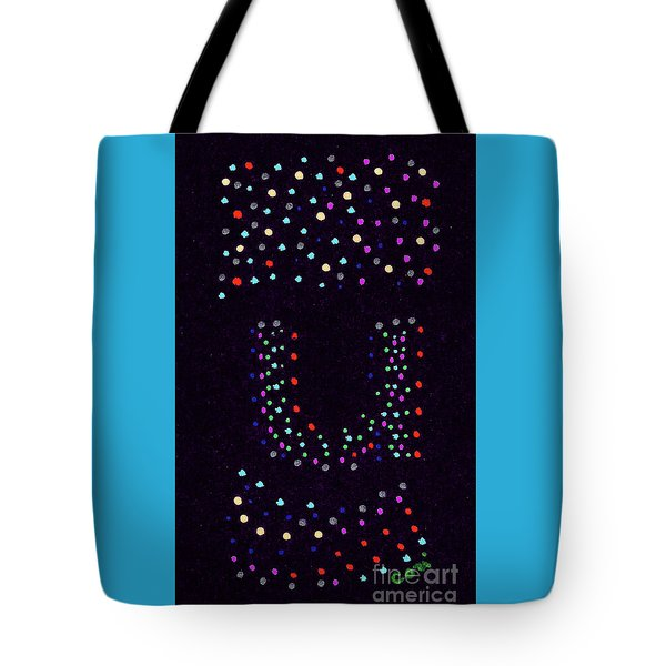 Tote Bag featuring the painting Letter U 2 by Corinne Carroll