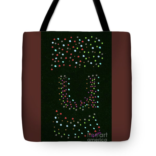 Tote Bag featuring the painting Letter U 3 by Corinne Carroll