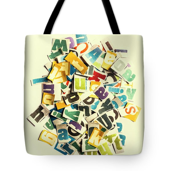 Letters In Jumble Tote Bag